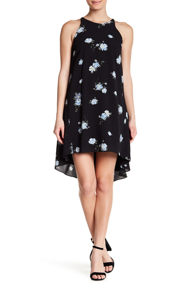 Imbracaminte Femei 14TH PLACE Hi-Lo Floral Halter Dress SCATTERED FLRL PRINT
