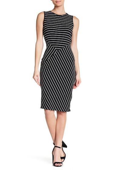 Imbracaminte Femei 14TH PLACE Striped Sleeveless Midi Dress BLACKWHITE