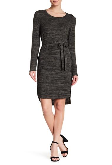 Imbracaminte Femei 14TH PLACE Long Sleeve Hi-Lo Knit Dress OLIVE JUNGLE MARL
