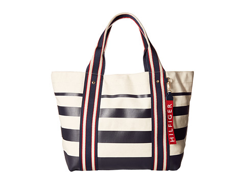 Genti Femei Tommy Hilfiger Canvas Tote NavyNatural