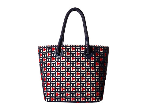 Genti Femei Tommy Hilfiger Terry Logo Tote NavyRed