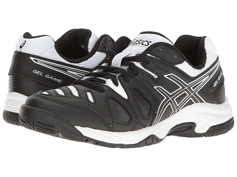 Incaltaminte Baieti ASICS Gel-Gamereg 5 GS Tennis (Little KidBig Kid) BlackWhite