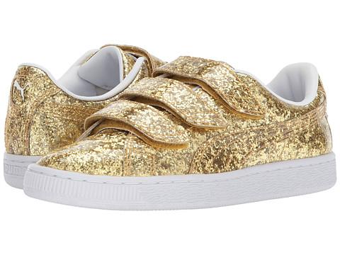 Incaltaminte Femei PUMA Basket Strap Glitter GoldGold