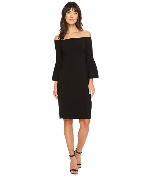 Imbracaminte Femei Vince Camuto Crepe Bodycon Dress w Flounce Sleeves Black