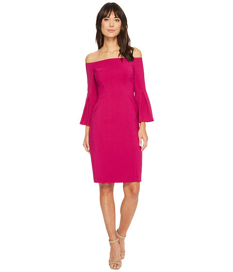 Imbracaminte Femei Vince Camuto Crepe Bodycon Dress w Flounce Sleeves Orchid