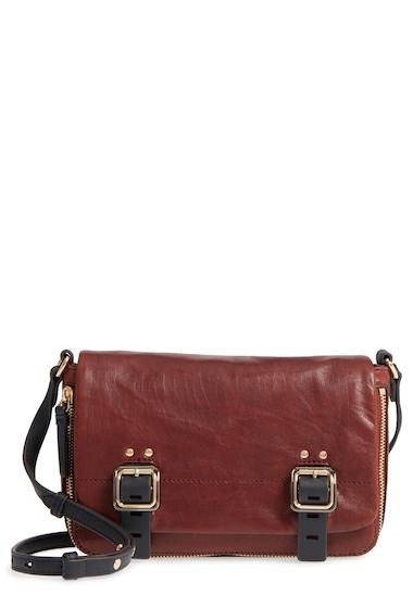 Genti Femei Vince Camuto Delos Leather Crossbody Bag BRANDY 01