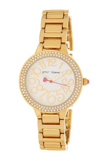 Ceasuri Femei Betsey Johnson Womens Crystal Embellished Bracelet Watch 32mm NO COLOR