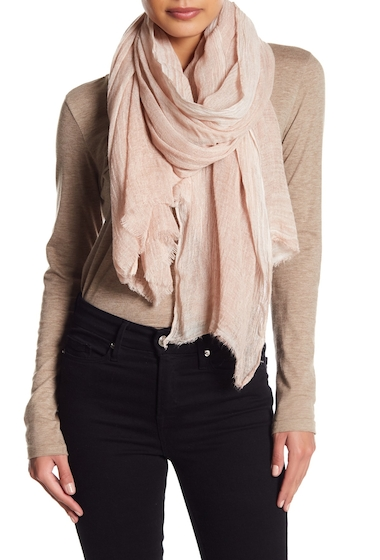 Accesorii Femei Melrose and Market Slubby Wash Dyed Rectangular Scarf PINK SILVER