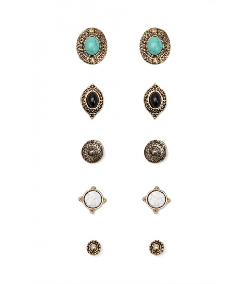 Bijuterii Femei Forever21 Faux Stone Earring Set ANTIQUE GOLD
