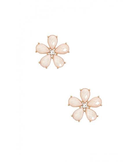Bijuterii Femei Forever21 Faux Gem Floral Stud Earrings GOLD