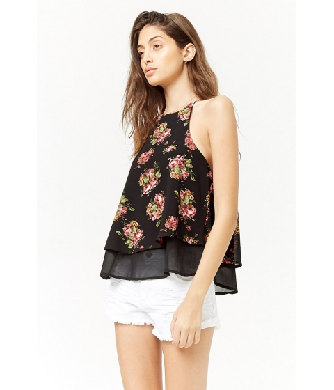 Imbracaminte Femei Forever21 Tiered Floral Print Cami BLACKPINK