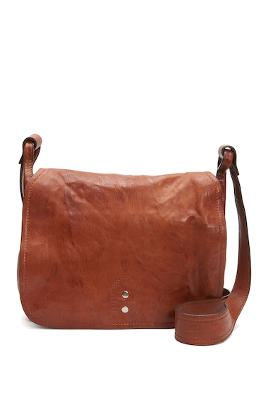 Genti Femei Frye Veronica Leather Buckle Messenger Bag COGNAC