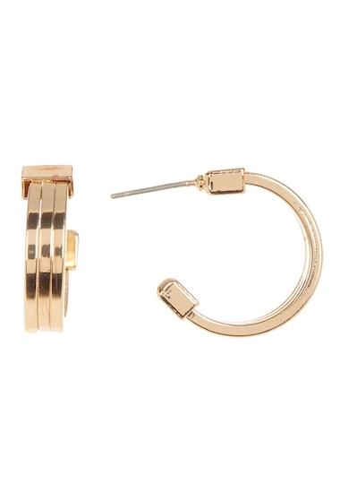 Bijuterii Femei 14th Union Triple Row 20mm Mini Open Hoop Earrings GOLD