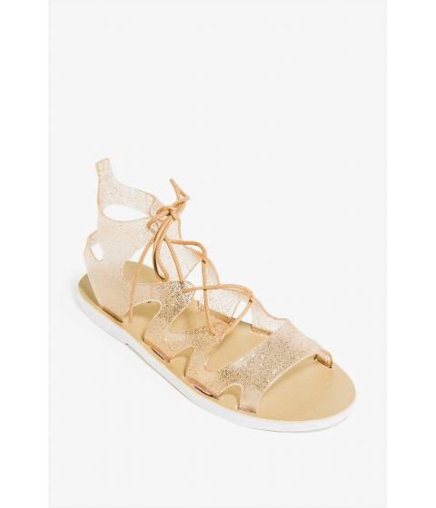 Incaltaminte Femei CheapChic About The Lace Sandal Metallic Gold