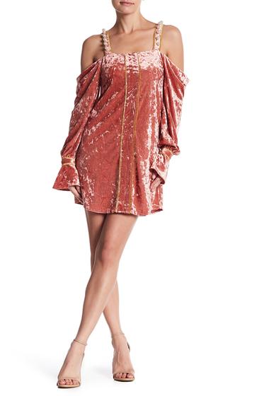 Imbracaminte Femei Dance and Marvel Velvet Cold Shoulder Dress DUSTY ROSE