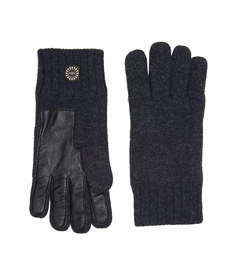 Accesorii Barbati UGG Knit Gloves w Smart Leather Palm Graphite Heather