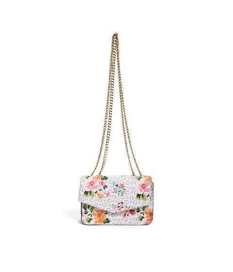Accesorii Femei GUESS Floral Crossbody Wallet white multi