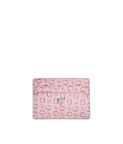 Accesorii Femei GUESS Logo Mirror Card Holder pink multi