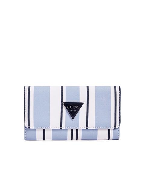 Accesorii Femei GUESS Abree Striped Slim Wallet blue multi