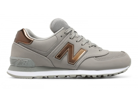 Incaltaminte Femei New Balance Womens 574 Varsity Sport Grey with Silver