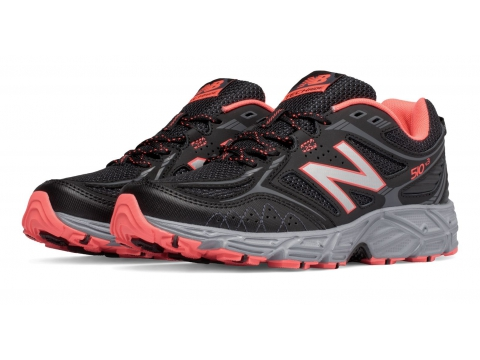 Incaltaminte Femei New Balance Womens New Balance 510v3 Trail Black with Orange Silver