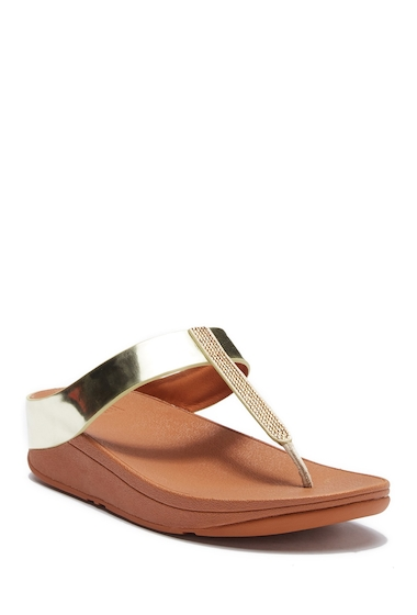 Incaltaminte Femei FitFlop Fino Crystal Sandal GOLD