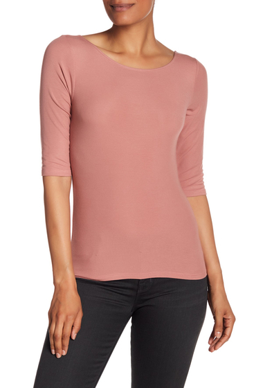 Imbracaminte Femei Theory Ribbed Scoop Neck Tee TSA PINK WILLOW