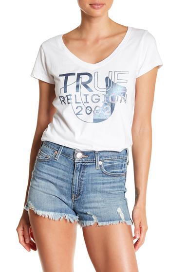 Imbracaminte Femei True Religion V-Neck Graphic Print Tee WHITE
