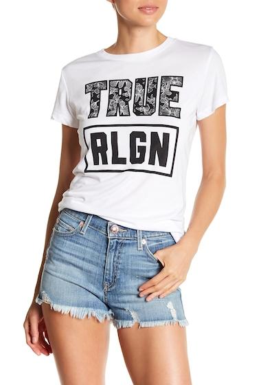 Imbracaminte Femei True Religion Short Sleeve Graphic Print Tee WHITE