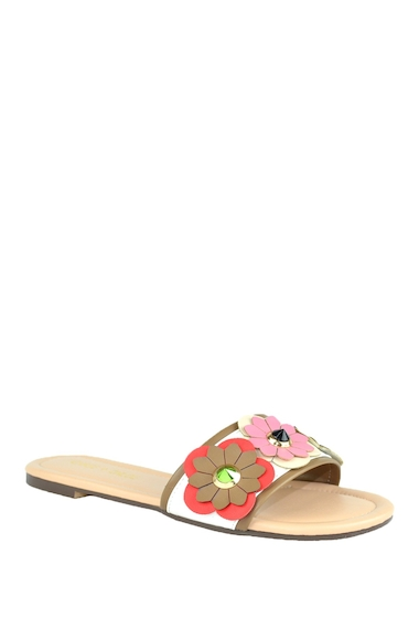 Incaltaminte Femei Chase Chloe Joy Flower Embellished Slide Sandal WHITE