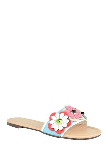 Incaltaminte Femei Chase Chloe Joy Flower Embellished Slide Sandal SERENITY BLUE