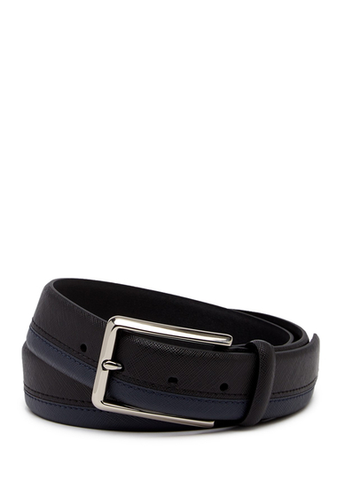 Accesorii Barbati 14th Union Warren Saffiano Two-Tone Belt BLACK NAVY