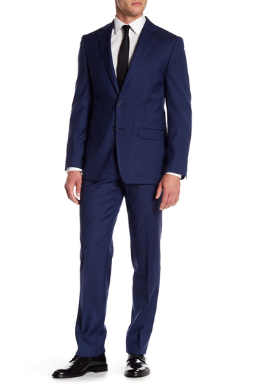 Imbracaminte Barbati Calvin Klein Mabry Navy Woven Two Button Notch Lapel Wool Suit NAVY