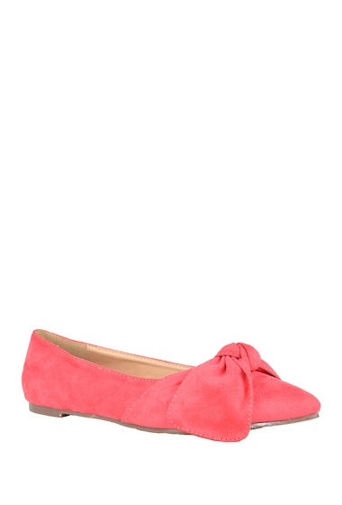 Incaltaminte Femei Chase Chloe Dalena Pointed Toe Bow Ballet Flat BLUSH SUEDE