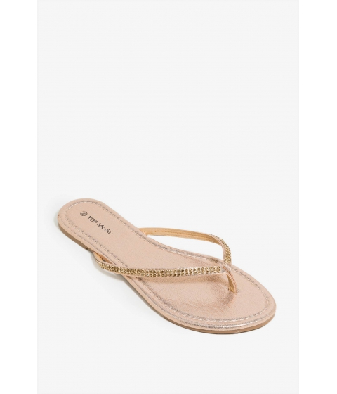 Incaltaminte Femei CheapChic Somethings About To Sandal Metallic Champagne