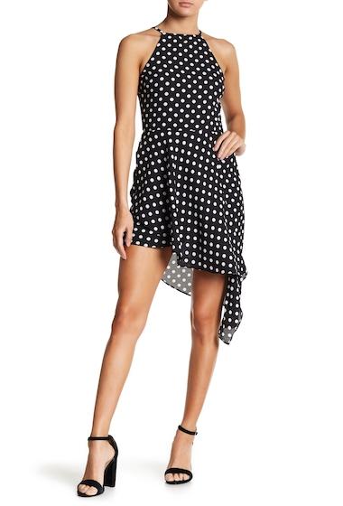 Imbracaminte Femei LOVEAdy Patterned Asymmetric Halter Dress BLACKWHITE