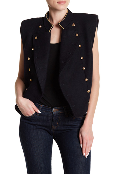 Imbracaminte Femei Free People Cropped Military Vest NAVY