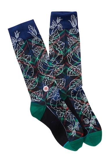 Accesorii Barbati Stance Wade Floral Plaid 2 Crew Socks NAVY