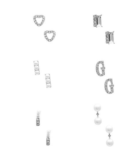 Bijuterii Femei GUESS Silver-Tone Pearl Stud Earring Set silver
