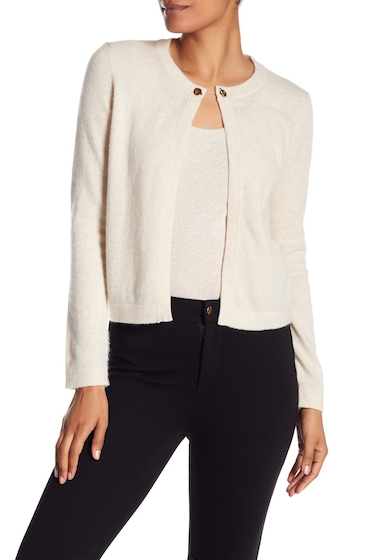 Imbracaminte Femei In Cashmere Open Front Chain Toggle Cashmere Cardigan HEATHER OATMEAL