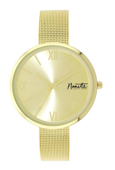 Ceasuri Femei NANETTE nanette lepore Womens Wind-Up Mesh Bracelet Watch 37mm GOLD