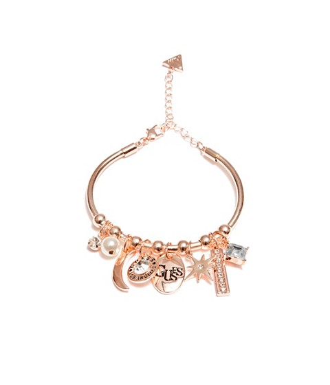 Bijuterii Femei GUESS Rose Gold-Tone Bangle Bracelet rose gold