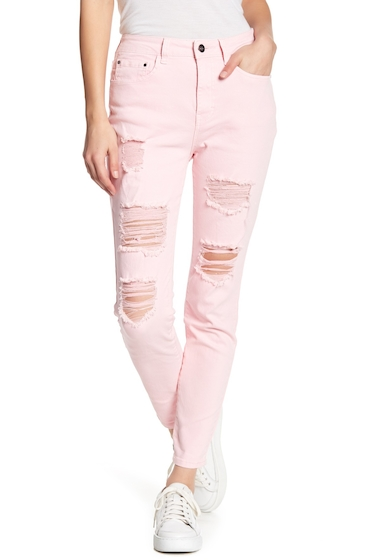 Imbracaminte Femei Abound Destroyed Denim Skinny Jeans PINK SILVER