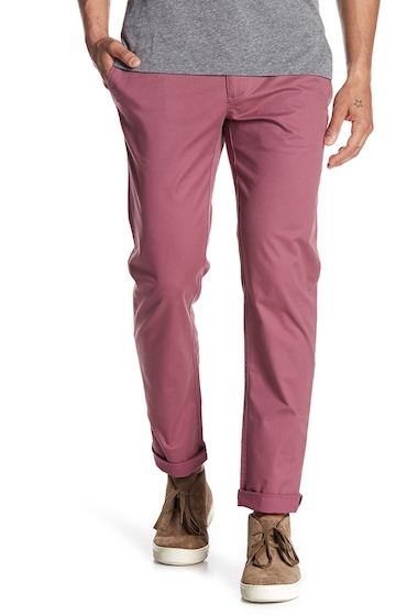 Imbracaminte Barbati Original Penguin P55 Slim Stretch Chinos - 32 Inseam VERY GRAPE