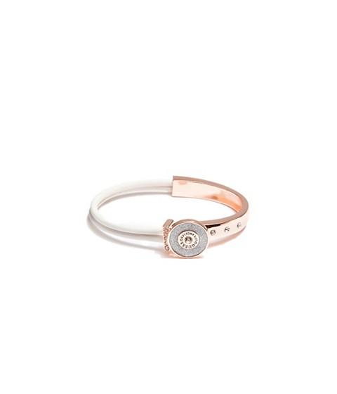 Bijuterii Femei GUESS Rose Gold-Tone and White Glitter Bracelet white