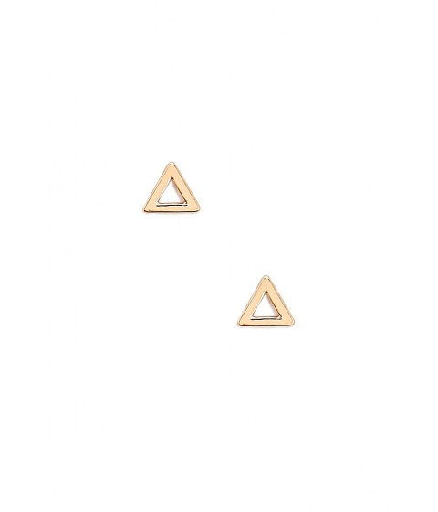 Bijuterii Femei Forever21 Cutout Triangle Stud Earrings GOLD