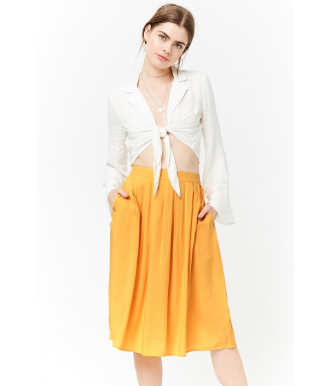 Imbracaminte Femei Forever21 Pleated A-Line Skirt YELLOW