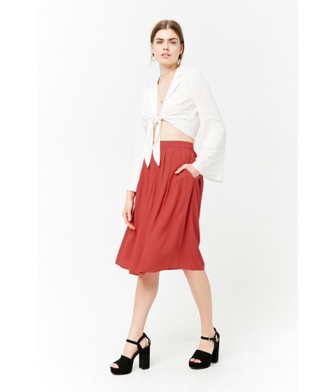 Imbracaminte Femei Forever21 Pleated A-Line Skirt RED