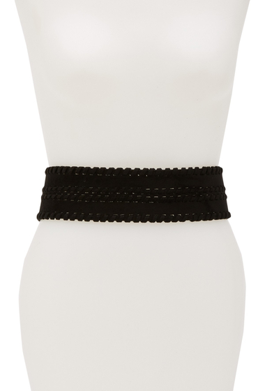 Accesorii Femei Lodis Accessories Faux Suede Whipstitch Stretch Belt BLACK
