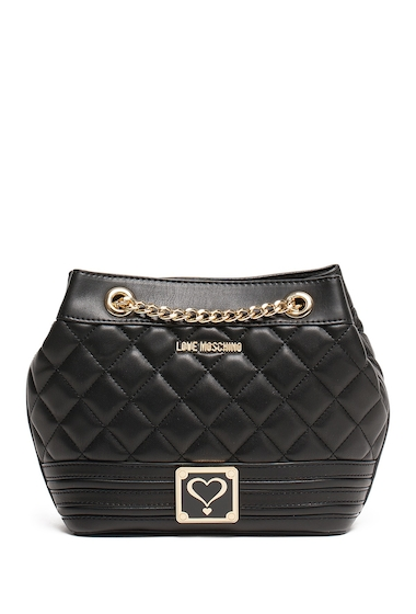 Genti Femei LOVE Moschino Quilted Bucket Bag BLACK